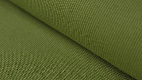 Gelbgrüner Bündchenstoff, gerippt - 27 cm kaufen im Makerist Materialshop