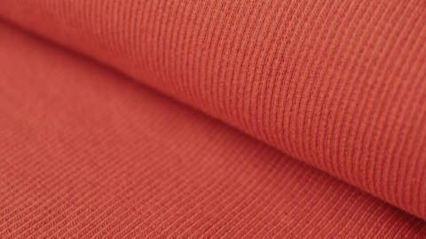 Orangefarbener Bündchenstoff, gerippt - 27 cm kaufen im Makerist Materialshop