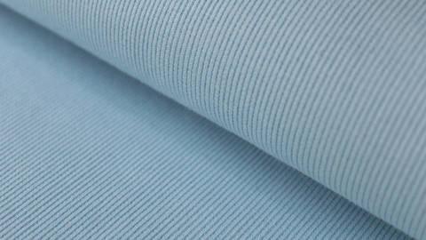 Hellblauer Bündchenstoff, gerippt - 27 cm kaufen im Makerist Materialshop