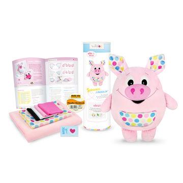 "Nähset Kuscheltier Schwein ""Landolin"" von kullaloo - rosa - Materialsets kaufen im Makerist Materialshop"