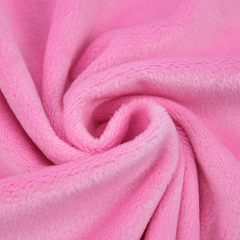 """Kuschelweicher Microfaserplüsch """"SHORTY"""" von kullaloo - rosa kaufen im Makerist Materialshop"""