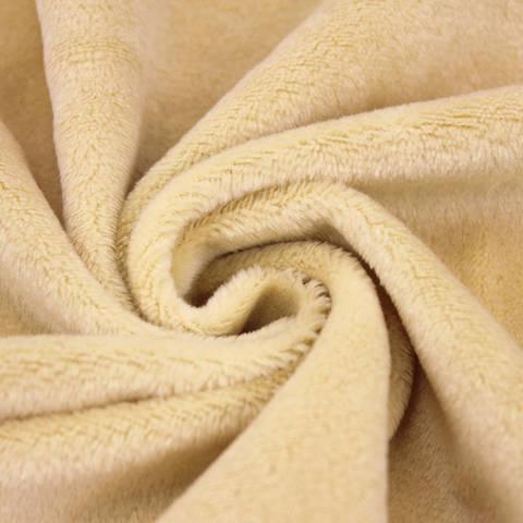 """Kuschelweicher Microfaserplüsch """"SHORTY"""" von kullaloo - beige kaufen im Makerist Materialshop"""