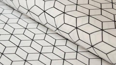Weiß und schwarzer Baumwolljersey: Black and White - 150 cm - ARCHIVIERT - kaufen im Makerist Materialshop