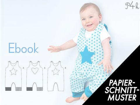 Gedrucktes Schnittmuster für: Baby one-piece pattern, dungaree ...