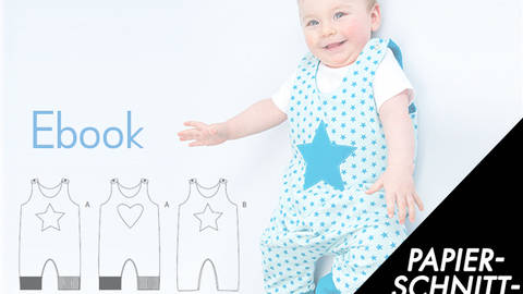 Baby one-piece pattern, dungaree, overall, jumpsuit, playsuit, lined ...
