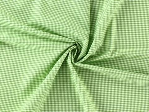Hellgrüner kleinkarierter Baumwollstoff - 160 cm kaufen im Makerist Materialshop