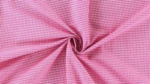 Pinkfarbener kleinkarierter Baumwollstoff - 160 cm kaufen im Makerist Materialshop