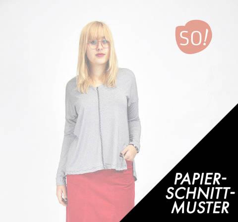 Gedrucktes Schnittmuster für: Shirt OLIVIA // XS - 5 XL kaufen im Makerist Materialshop