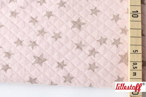 Rosa-taupe wattierte Bio-Baumwolle: Stepper Stars - 160 cm kaufen im Makerist Materialshop