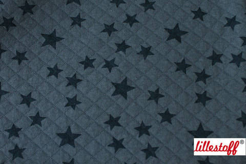 Taubenblau-rauchblau wattierte Bio-Baumwolle: Stepper Stars - 160 cm kaufen im Makerist Materialshop