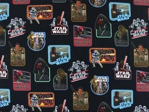 Schwarzer Star Wars Jersey: Label - 145 cm kaufen im Makerist Materialshop