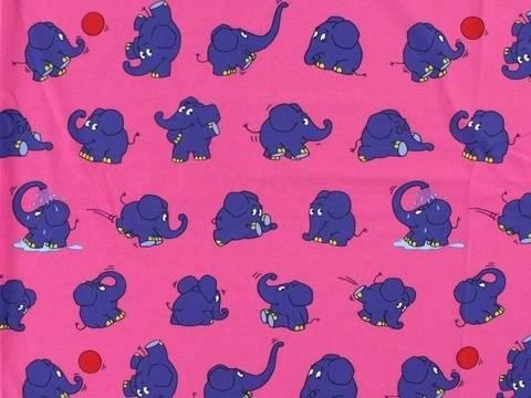 Pinker Jersey: Die Sendung mit dem Elefanten - 145 cm kaufen im Makerist Materialshop