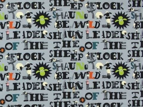 Grauer Jersey: Shaun das Schaf - 150 cm kaufen im Makerist Materialshop