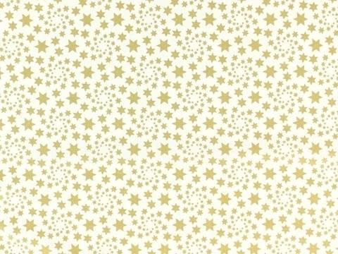 Wollweiß-goldener Weihnachtsstoff: Sternenstaub - 135 cm kaufen im Makerist Materialshop