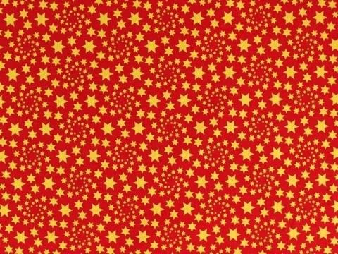 Rot-goldener Weihnachtsstoff: Sternenstaub - 135 cm kaufen im Makerist Materialshop