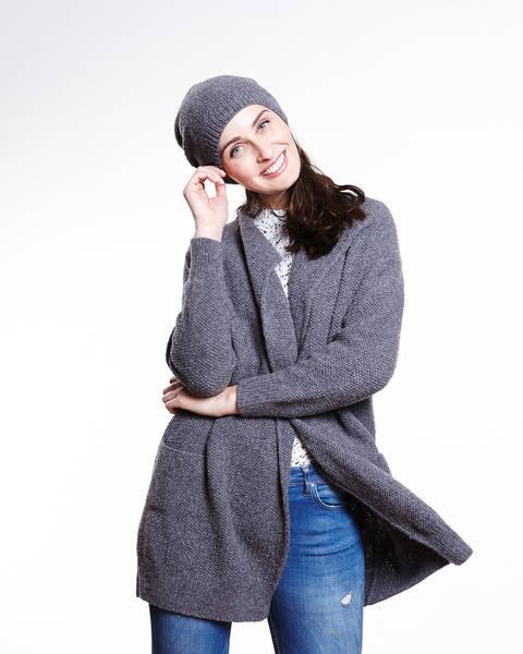 Mantel Strickset von Lamana - schiefergrau kaufen im Makerist Materialshop