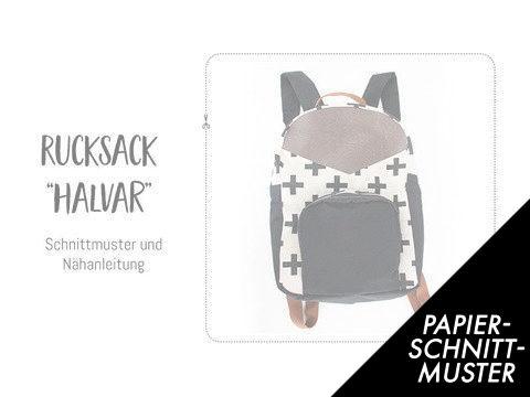 """Gedrucktes Schnittmuster für: Rucksack """"Halvar"""" - Schnittmuster kaufen im Makerist Materialshop"""
