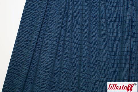 Dunkelblauer Bio-Jersey lillestoff: Farn Kombi - 150 cm kaufen im Makerist Materialshop