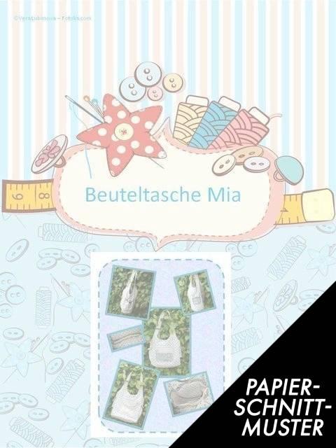 Gedrucktes Schnittmuster für: Beuteltasche Mia kaufen im Makerist Materialshop