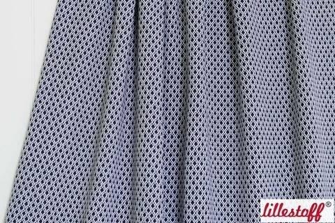 Blau-weißer Jacquard lillestoff: Bilberry Pitti - 160 cm kaufen im Makerist Materialshop