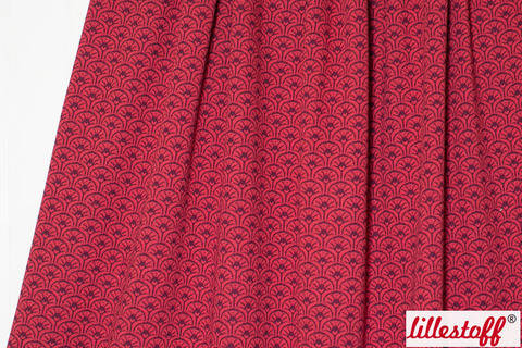 Dunkelroter Jacquard lillestoff: Rising Sun - 170 cm kaufen im Makerist Materialshop
