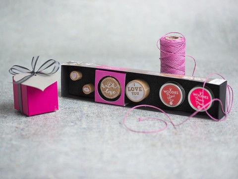 Stempelset Woodies: HERZEN - Bastelmaterial kaufen im Makerist Materialshop