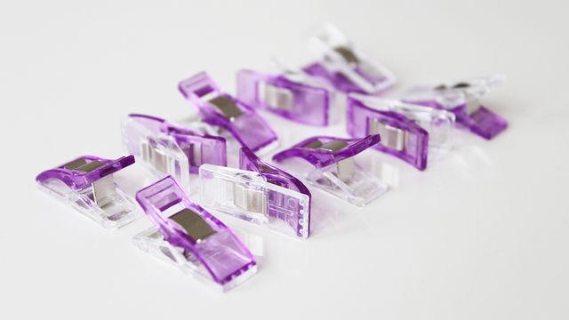 Stoffklammern lila - 10 Stk. - Kurzwaren und Zubehör kaufen im Makerist Materialshop
