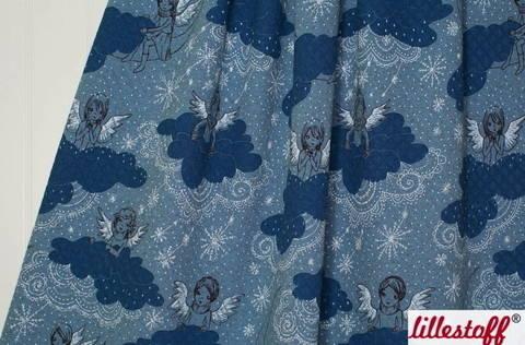 Graublaue gesteppte Bio-Baumwolle lillestoffe: Schneeengel - 150 cm kaufen im Makerist Materialshop