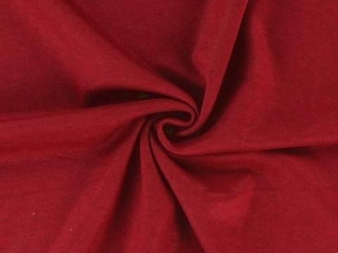 Bordeauxfarbener Strickstoff: melange - 135 cm kaufen im Makerist Materialshop