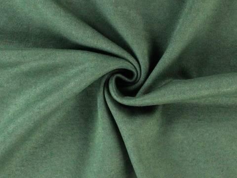 Dunkelgrüner Strickstoff: melange - 135 cm kaufen im Makerist Materialshop