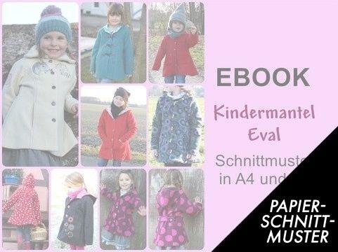 Gedrucktes Schnittmuster für: Kindermantel Eva - Schnittmuster kaufen im Makerist Materialshop