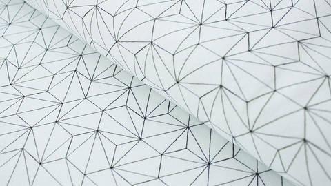 Limitierter schwarz-weißer Jerseystoff GOTS: Hexagon - 170 cm kaufen im Makerist Materialshop