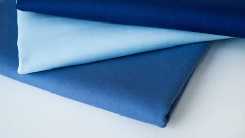 3er Unikombi Stoff-Set: Heide blau - 50 cm kaufen im Makerist Materialshop