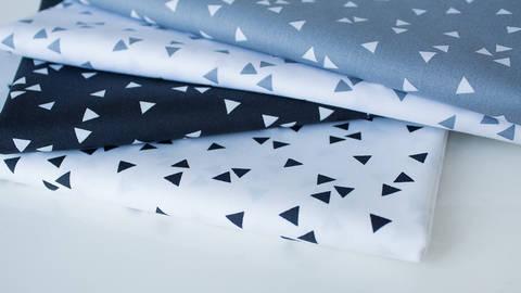 4er Baumwollkombi Stoff-Set: Triangle - 50 cm kaufen im Makerist Materialshop