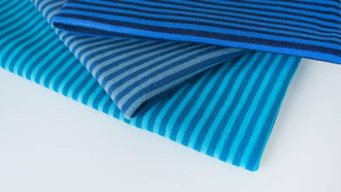 3er Ringelkombi Stoff-Set: Bündchen blau - 50 cm kaufen im Makerist Materialshop