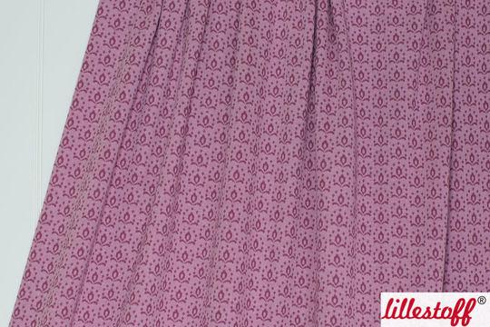 Rotwein Jacquard lillestoff: Wilde Rose Kombi - 130 cm - Stoffe kaufen im Makerist Materialshop