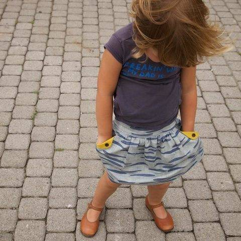 Acheter Patron pochette jupe enfant Lotta par Compagnie M. dans la mercerie Makerist