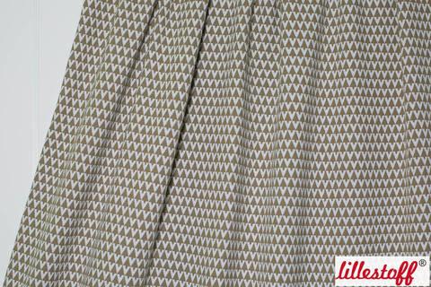 Sandfarbener Jacquard lillestoff: Triangle - 160 cm kaufen im Makerist Materialshop