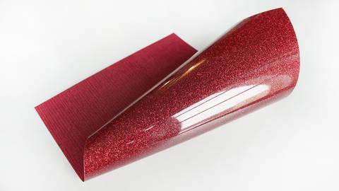Acheter Flex brillant pailleté pour plotter - rouge dans la mercerie Makerist