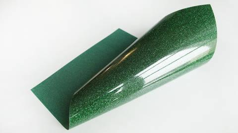 Acheter Flex brillant pailleté pour plotter - vert kelly dans la mercerie Makerist