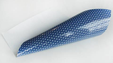 Pünktchen Flockfolie zum Plotten - royalblau kaufen im Makerist Materialshop
