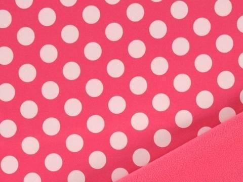 Rosa weißer Softshell Big Dots kaufen im Makerist Materialshop