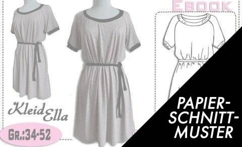 """Gedrucktes Schnittmuster für: Schnittmuster und Nähanleitung Kleid """"Ella"""" Gr.:34-52 kaufen im Makerist Materialshop"""