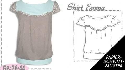 Schnittmuster und Nähanleitung für das Shirt \