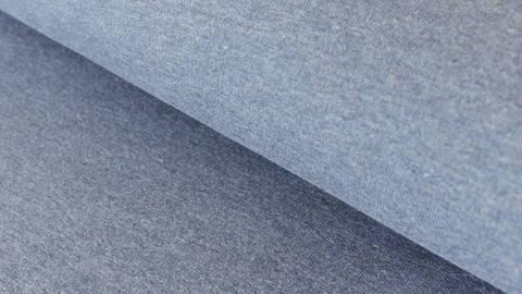Rauchblau melierter Baumwoll-Sweat: Jenna - 155 cm kaufen im Makerist Materialshop