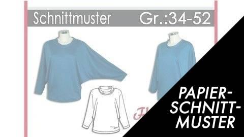 Gedrucktes Schnittmuster für: Fledermausshirt Gr.:34-52 kaufen im Makerist Materialshop