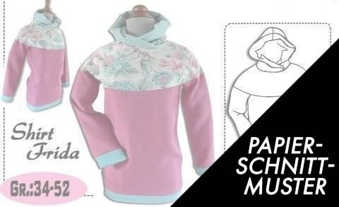 """Gedrucktes Schnittmuster für: Shirt """"Frida"""" Gr:34-52 kaufen im Makerist Materialshop"""