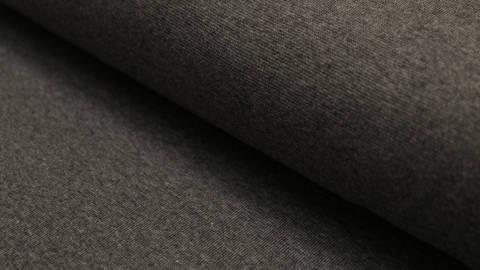 Dunkelgrau melierter Bündchenstoff: Heike - 100 cm kaufen im Makerist Materialshop