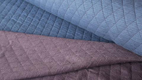 Blau/ Lila melierter Stepsweat: Silke - 155 cm kaufen im Makerist Materialshop