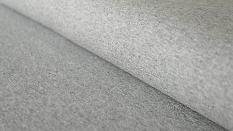 Hellgrau melierter Bündchenstoff: Heike - 100 cm kaufen im Makerist Materialshop